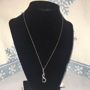 Sterling Silver And Diamond Necklace from Kay's